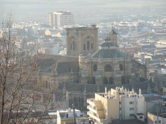 Catedral y Capilla Real: アルハンブラ宮殿から見た大聖堂