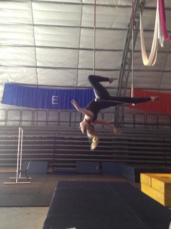 static trapeze practice at sailor circus
