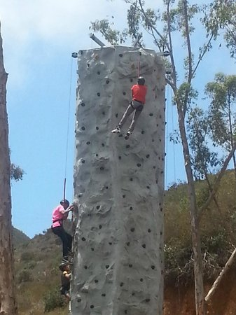 Rock Climbing Wall at Descanso Beach Club: What's better than Rock Climbing with the ocean as your view!!!