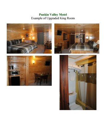 Punkin Valley Restaurant & Motel : Newly renovated and upgraded King room