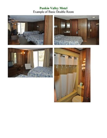 Punkin Valley Restaurant & Motel: Example of Basic Motel Rooms available