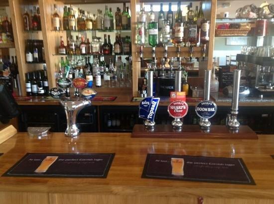 Mounts Bay Inn: The well stocked bar