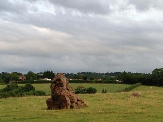 The Tithe Barn: Part of the stone circle in the village