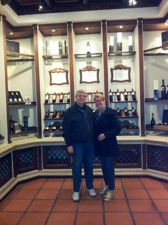 Bodega Luigi Bosca Familia Arizu: Ante sala de degustação