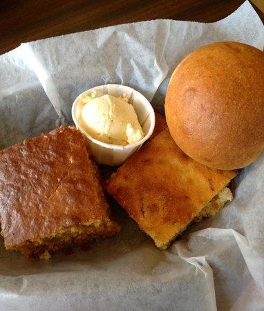 Barbara Jean's: Pumpkin Bread, Sweet Jalapeño Cornbread and Homemade Wheat Roll