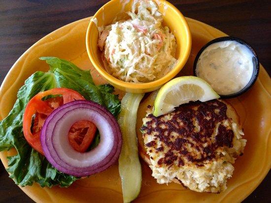 Barbara Jean's: Crab Cake Sandwich