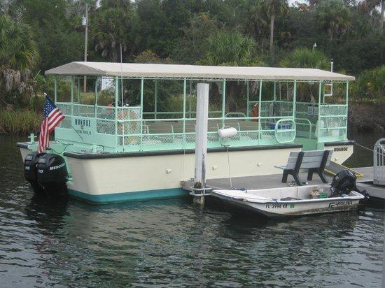 Crystal River Preserve State Park: The boat