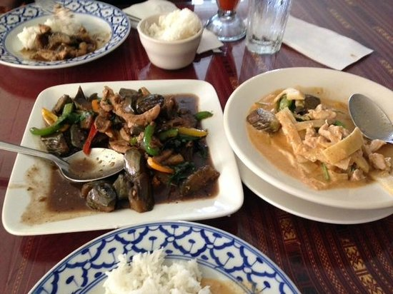 spicy house: Basil eggplant and red curry