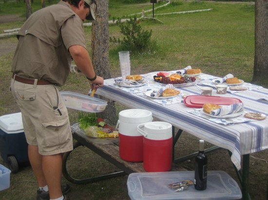 Grizzly Country Wildlife Adventures : Lunch by our Guide in Yellowstone