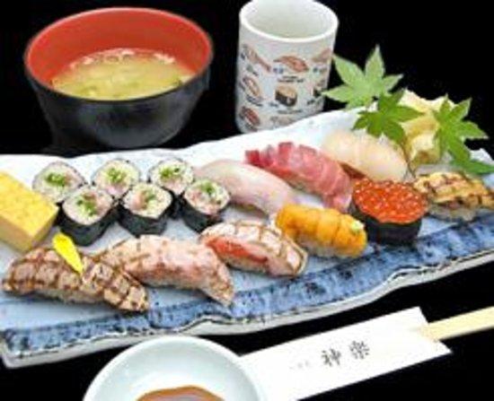 Tsukiji Kagura Sushi: セットメニュー