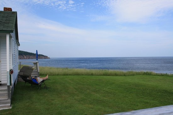 The Point Cottages by the Sea: View of the ocean from our cottage