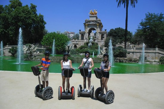 In the park - Picture of Barcelona Segway Glides ...