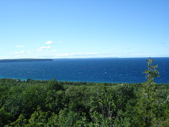 Bruce County, Kanada: veiw over the caves