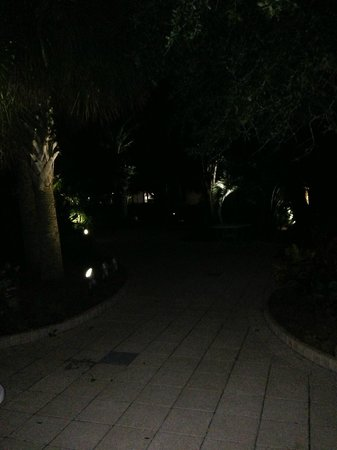 The Palms of Destin Resort and Conference Center: The VERY VERY dark pool area.
