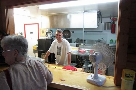 The Big Cheese: The owner's son makes all of the dough fresh daily.