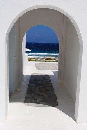 Mykonos Bay Hotel: mykonos bay- cant get closer to the beach!