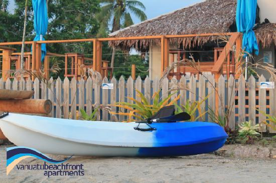 Vanuatu Beachfront Apartments : Enjoy complimentary use of kayaks...