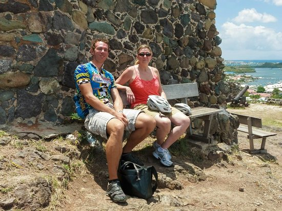 Tri-Sport Eco Tours: Resting at Fort Louis