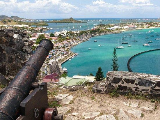 Tri-Sport Eco Tours: Fort Louis overlooking Marigot