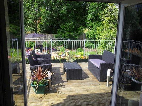 Criers Croft: View from Criefs Loft onto verandah
