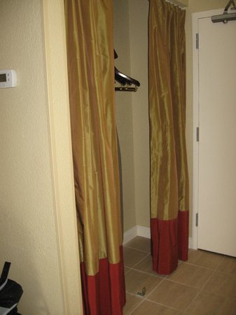 Crowne Plaza Jacksonville Airport Hotel: Closet space in Executive Level room