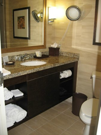 Crowne Plaza Jacksonville Airport Hotel: Bathroom vanity in Executive Level room