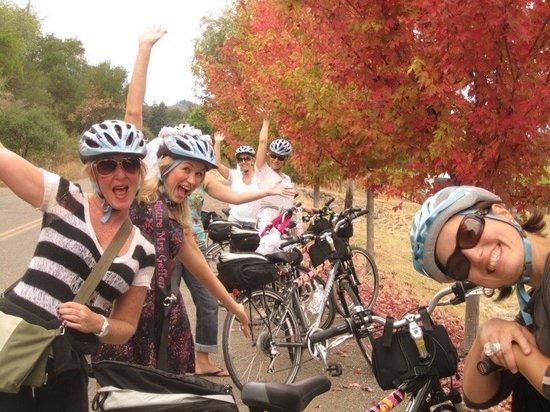 Wine Country Bikes: Bachelorette biking in Dry Creek