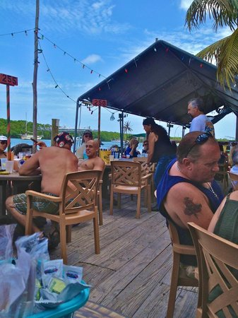 Gilbert's Resort: sitting next to dock