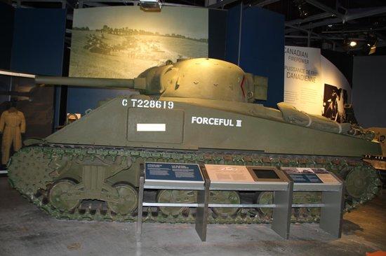 """Canadian War Museum: Sherman Tank """"Forceful III"""""""