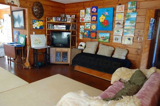 Atiu Homestay: Wohzimmer im Atiu Bed & Breakfast
