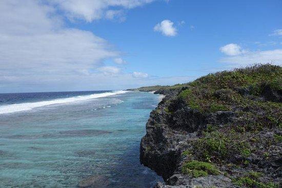 Atiu Homestay: Ausblick auf das Riff von Atiu