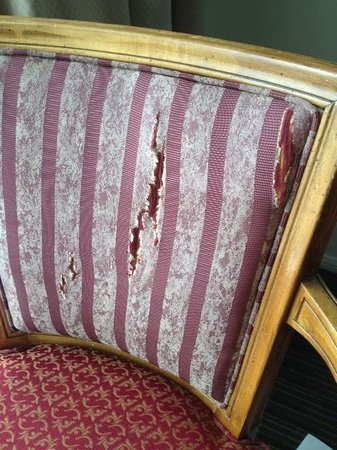 Laguna Beach Lodge: ripped upholstery