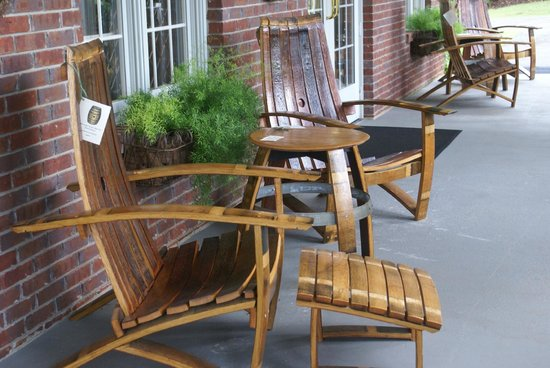 Porch Furniture Made From Old Wine Barrels Picture Of Morgan