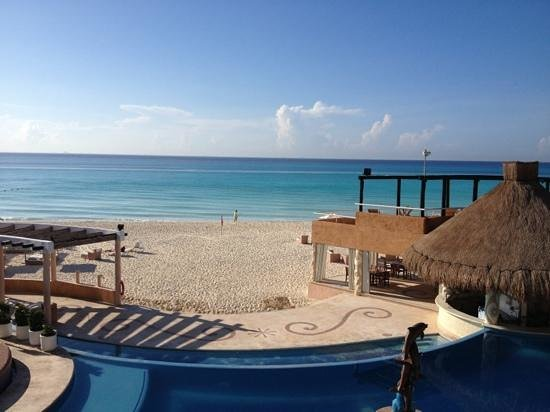 Sunset Fishermen Spa & Resort: the view from our balcony condo 226