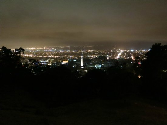 Berkeley Lab Guest House: Berkeley Campus and the Bay at Night