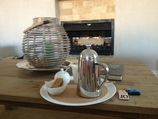 Kingsmead Guesthouse: Freshly ground coffee by the open fire - Kingsmead luxury!