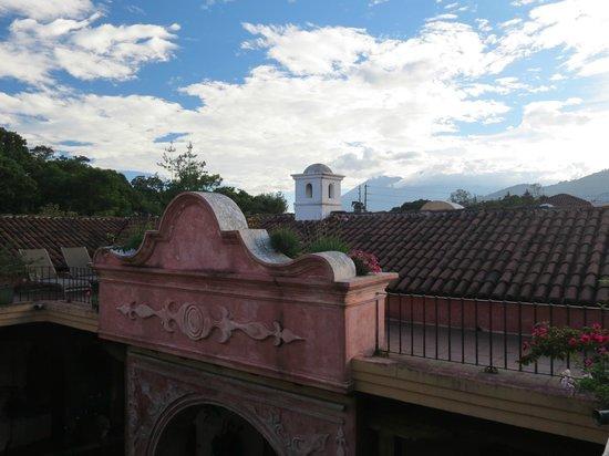 La Casona de Antigua: Hermosa vista de la terraza