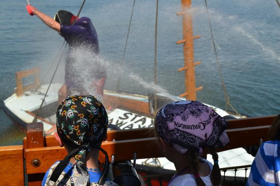 Pirate Adventures Hyannis: Water cannons - take that!