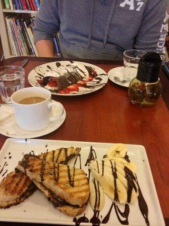 Cafe Chocolate of Lititz: Chocolate Peanut Butter Panini + Dark Chocolate Crepes