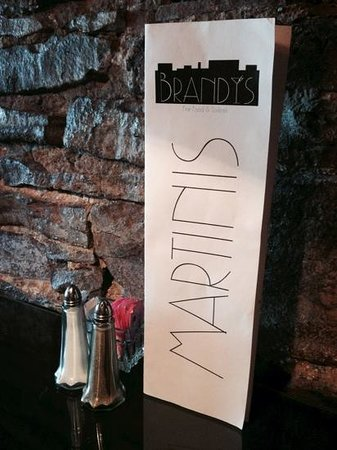 Brandy's Fine Food and Cocktails: Martini list, all $7
