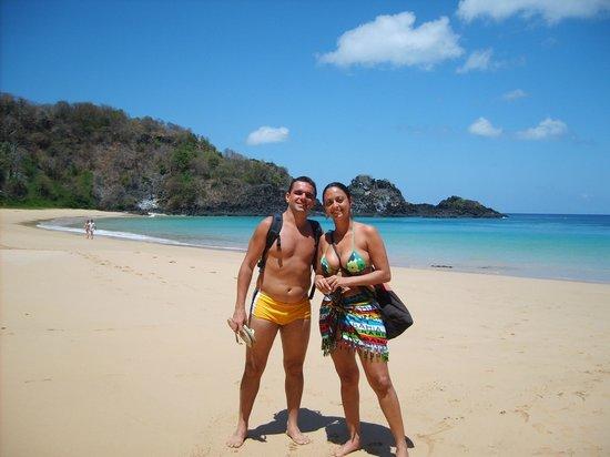 Baia do Sancho: já na praia depois de descer