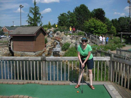 Kensington Mills Falls Mini Golf: Water fall adds appeal to the mini golf course