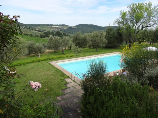 Relais Fattoria Valle in Panzano : The pool and the view