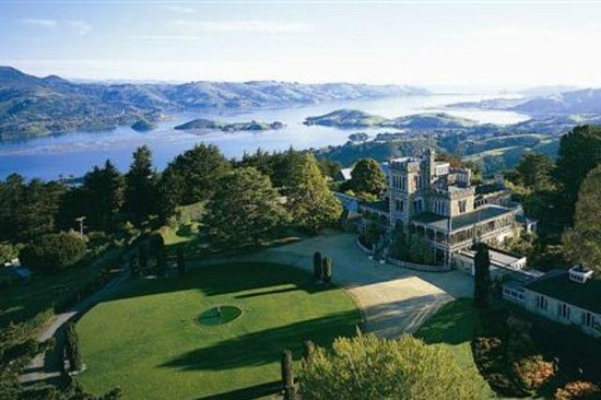 Larnach Castle & Gardens : Aerial view of Larnach Castle
