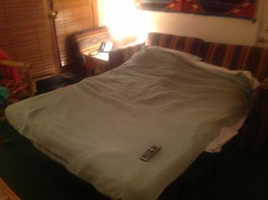 "Hotel Santa Fe: The ""second bed"" - it literally takes up the entire room."