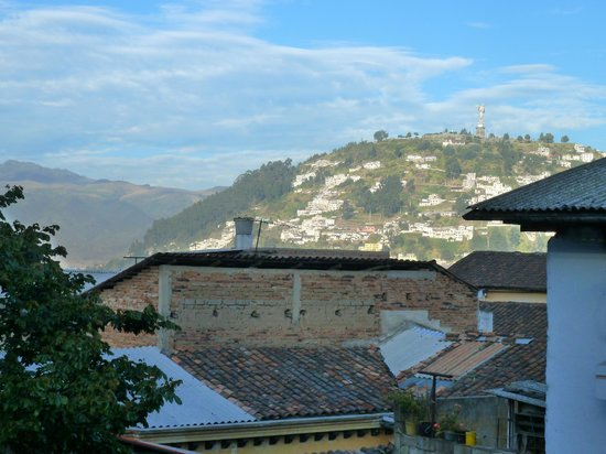 Colonial House Quito: view from by Bedroom window