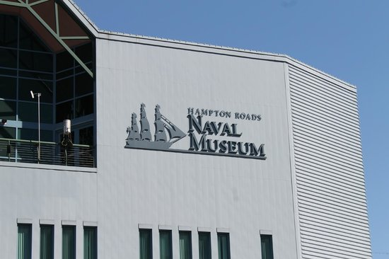 Hampton Roads Naval Museum: The front of the Naval Museum