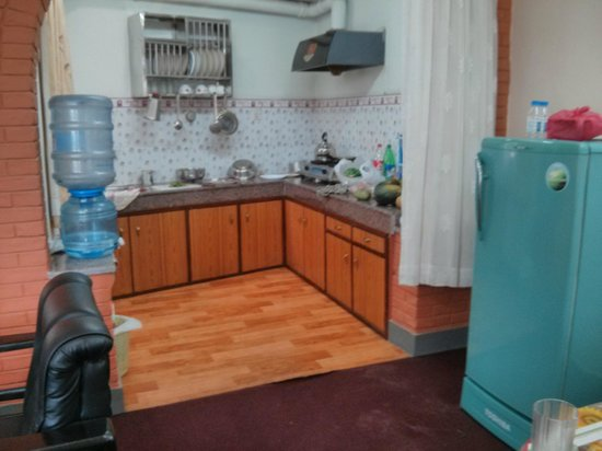 Hotel Melungtse: Kitchen With Drinking Water Facility, Fridge, Gas And Kitchen  Utilities