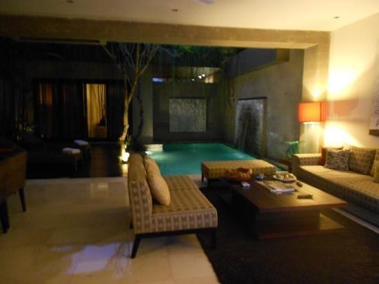 Kanishka Villas: villa lounge room, dining, pool and deck