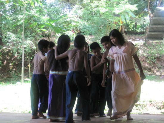 The Resort at Isla Palenque: The children of Ngobe-Bugle performing a dance